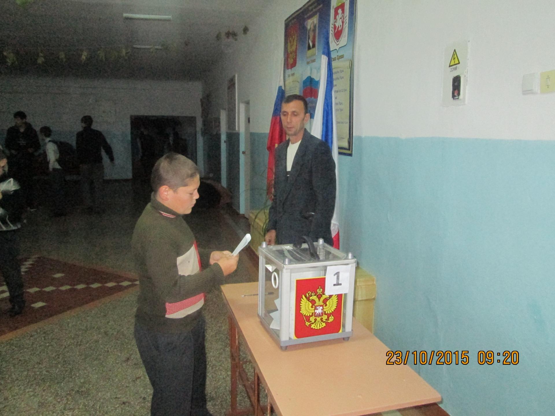 Голосует Кадыров Абляким